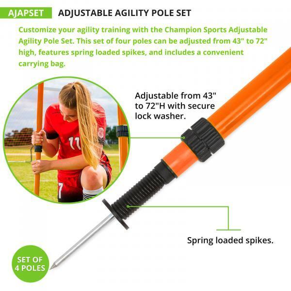 Adjustable Agility Pole Spike Close-up
