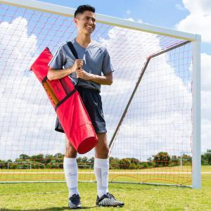 Adjustable Agility Pole Set with Soccer Player and Carry Bag