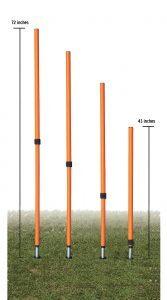 Adjustable Agility Pole Set