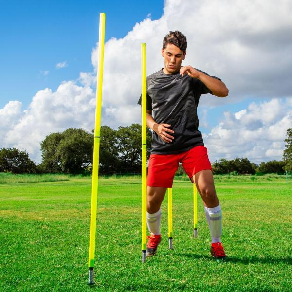 Outdoor Agility Poles with Runner