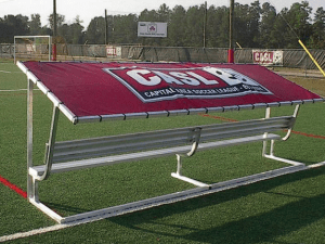 Covered Team Benches