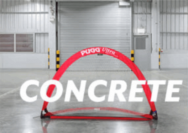 PUGG Ultra Weighted Pop-up Goal on Concrete