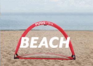 PUGG Ultra Weighted Pop-up Goal on the Beach
