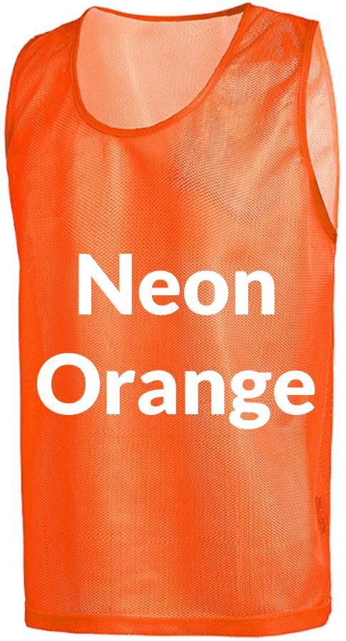 Neon Orange Scrimmage Vests