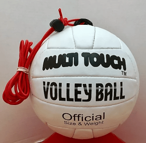 White Multitouch Volleyball Banner