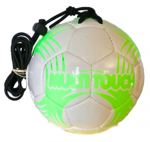 White with Neon Green Multitouch Size 5 Training Ball
