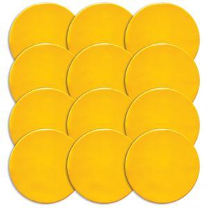 Yellow Round Poly Spot Markers