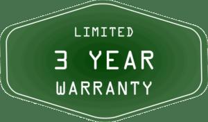 3-Year Limited Warranty Green