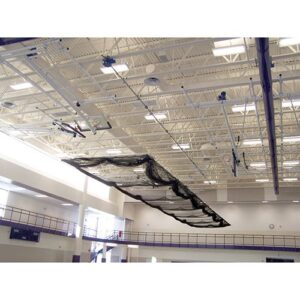 Raised Retractable Batting Cages - Ceiling Suspended,