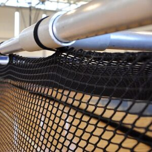 Raised Retractable Batting Cages - Ceiling Suspended, Tubing & Netting