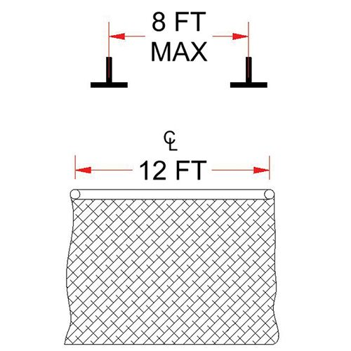 Ceiling Mounting Kit - Parallel - Spanning 8' On Center or Less