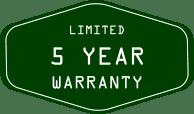 5-year-limited-warranty-Green