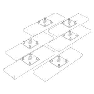 Wall Mounting Kit for Gymnasium Installations