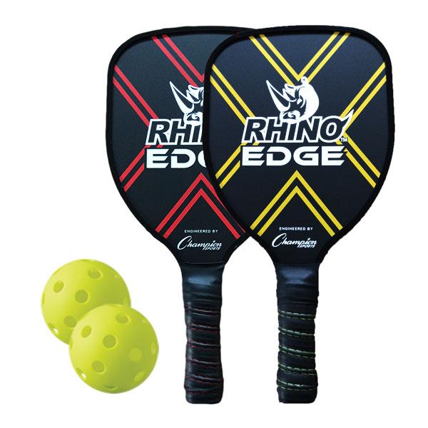 Rhino 2-Player Edge Wooden Pickleball Paddle Set