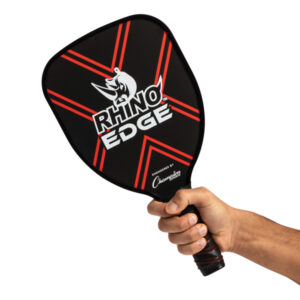 Rhino 2-Player Edge Wooden Pickleball Paddle in hand