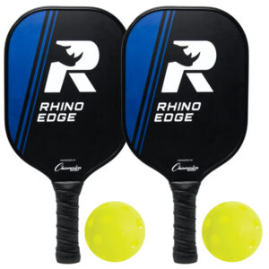 Rhino 2-Player Edge 100 Wooden Pickleball Paddle Set