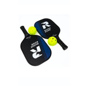 Rhino 2-Player Edge 100 Wooden Pickleball Paddle Set
