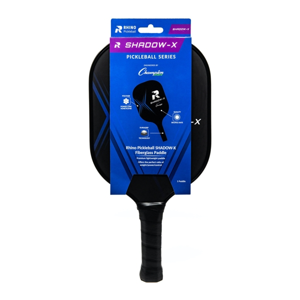Rhino Shadow-X Pickleball Paddle (Retail Packaging)