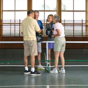 Vapor Pickleball Paddle Set with players