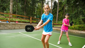 Player with a JuniorShot Pickleball Paddle