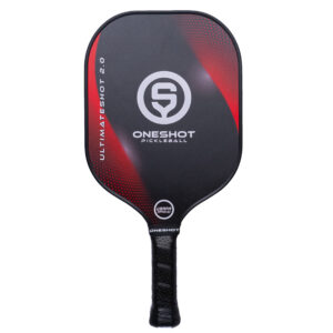 UltimateShot 2.0 Red Pickleball Paddle by OneShot - Front Angle